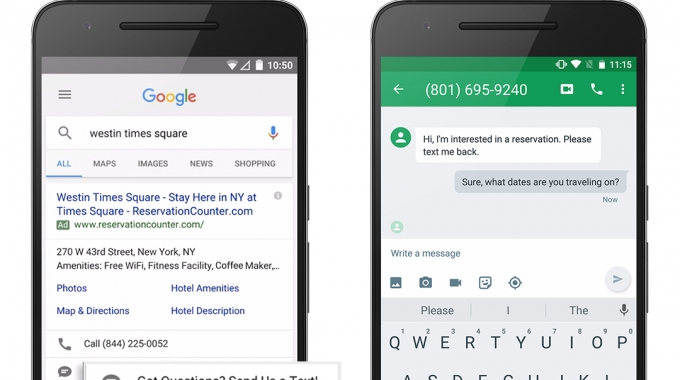 """Novidades no Google Adwords: anúncios """"Click-to-message"""""""