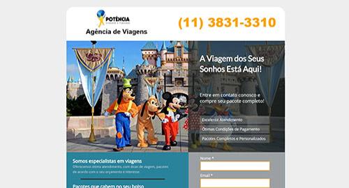 Hotsite de Agência de Turismo